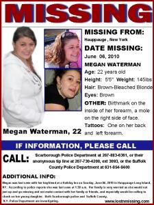 Megan Waterman missing flier.