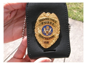 What a fake cop's badge may look like. (Unrelated to story)