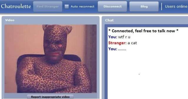 This guy is probably the least scary thing on ChatRoulette