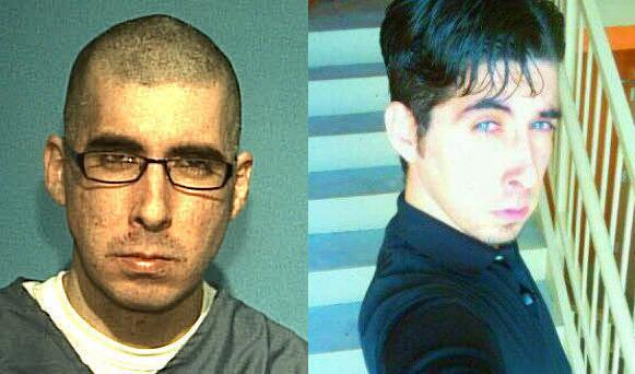 Nelson Carrizo in prison jumpsuit and as an emo douche.