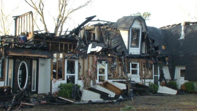House where Oklahoma family was murdered by their kids burns down