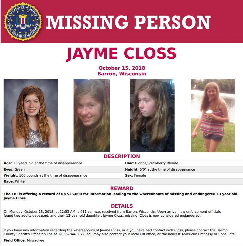MISSING: Jayme Closs